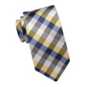 Stafford® Silk Gingham Tie – Extra Long