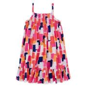 Okie Dokie® Sleeveless Smocked Dress - Toddler Girls 2t-5t