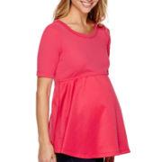 Maternity Mixed Media T-Shirt or Skinny Jeans
