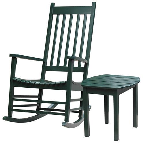 Porch Rocker And Table 2-pc. Patio Lounge Set