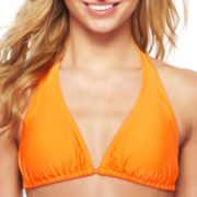Arizona Solid Slider Halter Swim Top