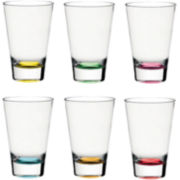 Confetti Set of 6 Highball Glasses
