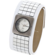 Decree® Womens Wide-Strap Tile Watch