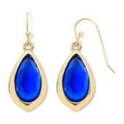 Liz Claiborne® Gold-Tone Blue Drop Earrings