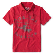 Joe Fresh™ Red Graphic Polo Shirt - Boys 4-14