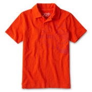 Joe Fresh™ Orange Graphic Polo Shirt - Boys 4-14