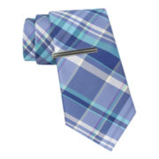 JF J. Ferrar® Mix-a-Lot Madras Slim Tie