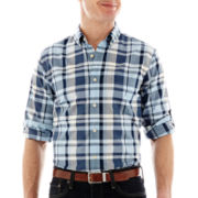 G.H. Bass® Long-Sleeve Brushed Pine Madras Plaid Shirt