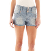 Saphire Ink Stacked High-Waisted Denim Shorts