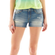 Arizona Destructed Denim Clean-Hemmed Shorts
