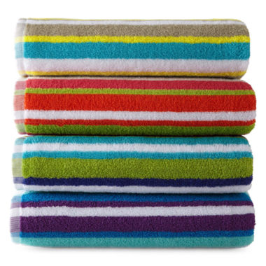 jcpenney.com | JCPenney Home™ Striped Bath Towels