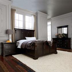 Providence 5-pc. Panel Bedroom Set in Antique Espresso