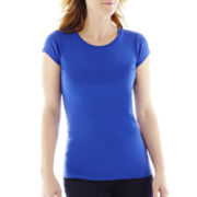 jcp™ Short-Sleeve Crewneck Tee - Tall