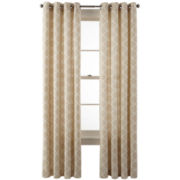 JCPenney Home™ Nolan Grommet-Top Cotton Curtain Panel