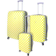 Travelers Club ABS 3-pc. Hardside Spinner Upright Luggage Set