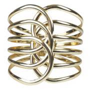 Bold Elements Gold-Tone Spiral Hinge Bracelet