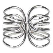 Bold Elements Silver-Tone Spiral Hinge Bracelet