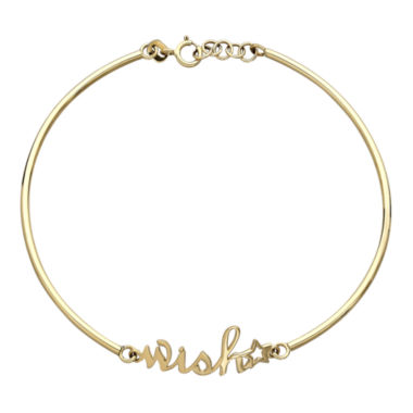 jcpenney.com | 10K Yellow Gold Wish Bracelet