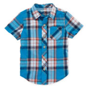 Arizona Short-Sleeve Plaid Shirt - Boys 2t-5t