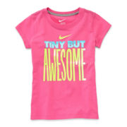 Nike® Cotton Tee — Girls 4-6x