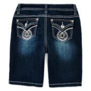 Revolution™ by Revolt Embroidered Bermuda Shorts - Girls 7-16 and Plus