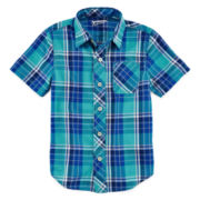 Arizona Short-Sleeve Plaid Shirt – Boys 4-7