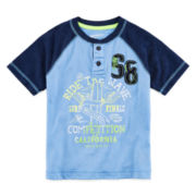 Arizona Short-Sleeve Graphic Henley - Boys 4-7