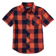 Arizona Short-Sleeve Plaid Shirt - Boys 4-7