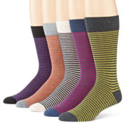 Stafford® 5-Pk. Cotton Rich Crew Socks