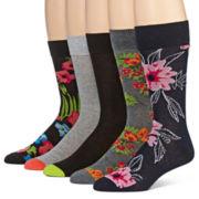 Stafford® 5-Pk. Cotton Rich Crew Socks