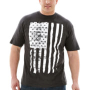 Faded Flag Graphic Tee–Big & Tall