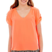 Lily Star Short-Sleeve Woven Top