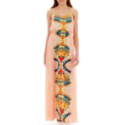 XOXO® Sleeveless Print Maxi Dress