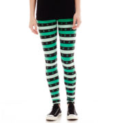 Fifth Sun St. Patrick's Shamrock-and-Stripe Leggings