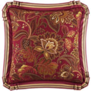 Queen Street® Scarlet Square Decorative Pillow