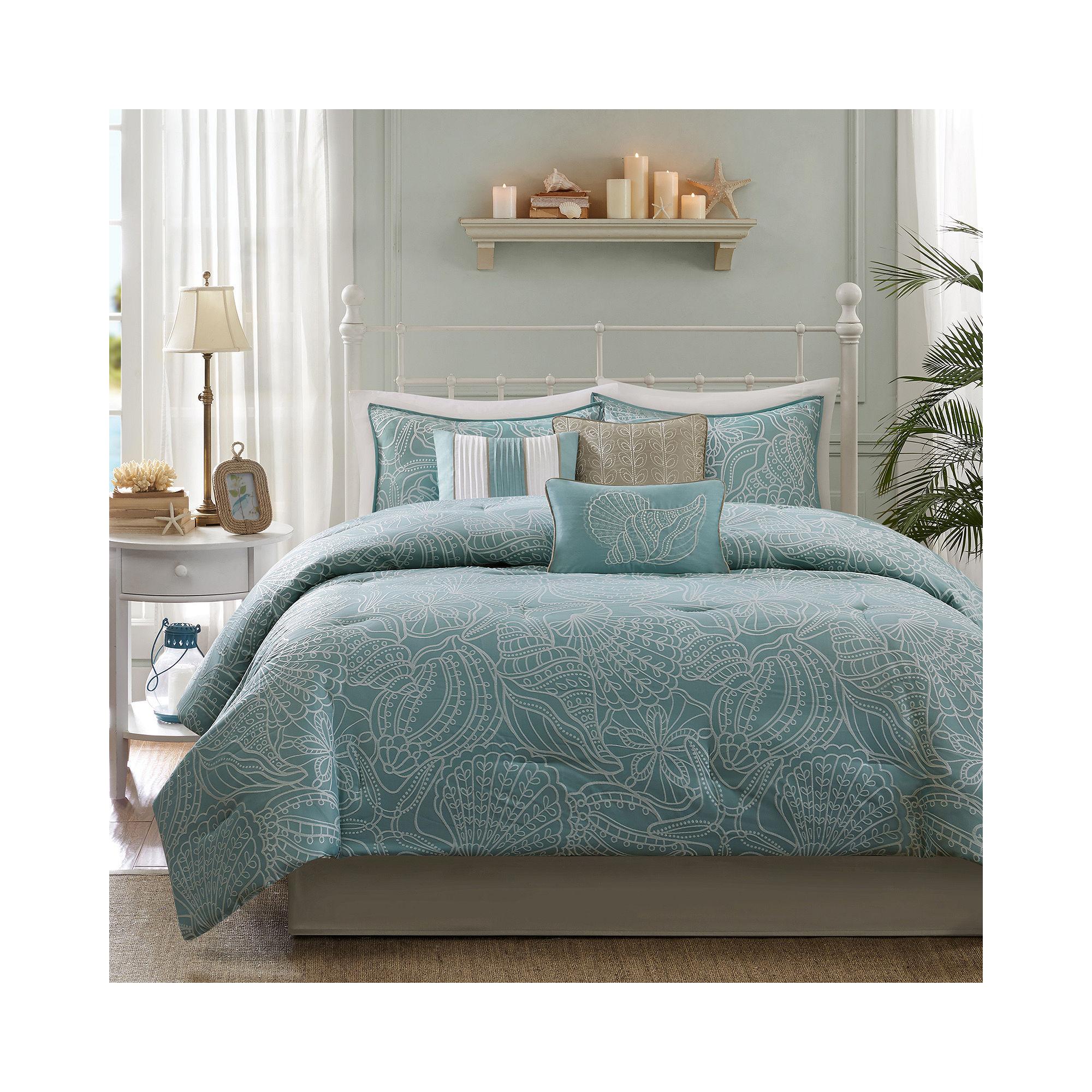 Get madison park seaside 7 pc comforter set limited Cal king bedroom sets