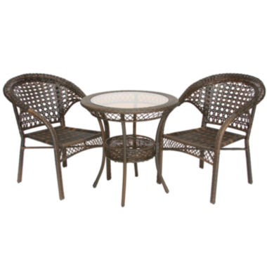 jcpenney.com | 3-pc. Outdoor Wicker Bistro Set