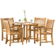 Riviera Wood 5-pc. Folding Dining Set