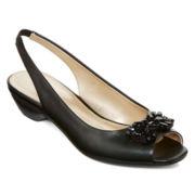 Liz Claiborne® Helena Embellished Slingback Pumps