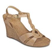 A2 by Aerosoles® Stone Plush Wedge Sandals