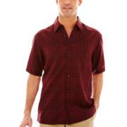 Haggar Short-Sleeve Microfiber Woven Shirt