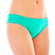 Stylus™ Shirred Side-Tab Hipster Swim Bottoms