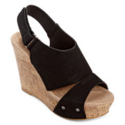 CL by Laundry Cheers Platform Cork Wedges
