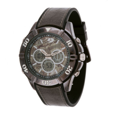 jcpenney.com | Mossy Oak® Mens Black Silicone Strap Watch
