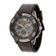 Mossy Oak® Mens Black Silicone Strap Watch