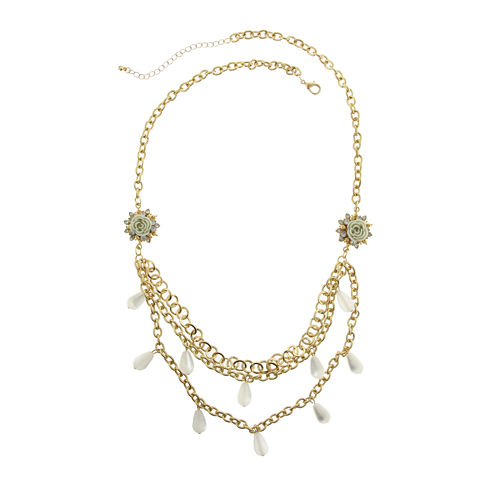 Capelli of New York Multi-Row Bib Necklace