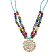 Mixit™ Rainbow Shell Medallion Necklace