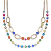 Mixit™ Rainbow Bead Two-Row Necklace