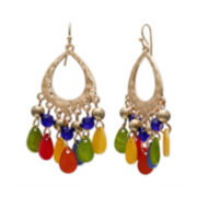 Mixit™ Rainbow Shell Teardrop Earrings
