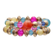 Mixit™ Rainbow Bead Double-Row Stretch Bracelet